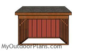 12x14 Field Shed Plans - Front view