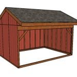 12×16 Field Shed Plans