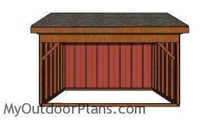12x16 Field Shed Plans - Front view