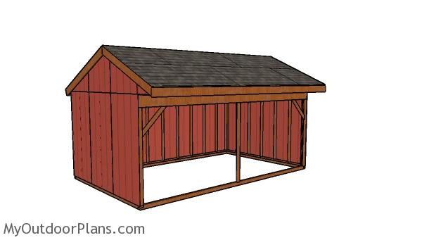 12x20 Field Shed Plans - Front view