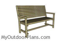 2x2 Garden Bench Plans