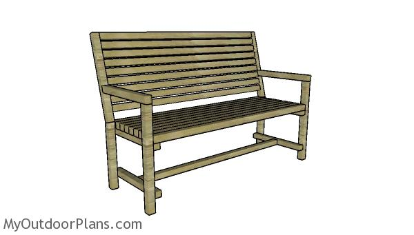 Wondrous 2X2 Garden Bench Plans Myoutdoorplans Free Woodworking Creativecarmelina Interior Chair Design Creativecarmelinacom