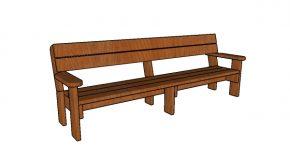 2×6 8 foot Outdoor Bench Plans