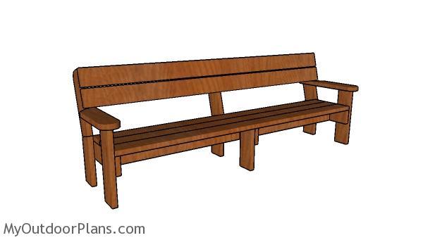 2x6 8 foot Outdoor Bench Plans