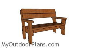 2x6 Garden Bench Plans