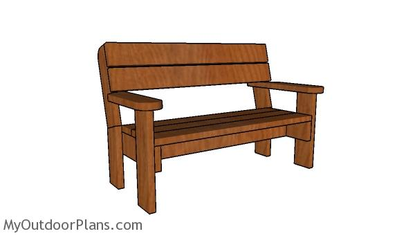 Excellent 2X6 Garden Bench Plans Myoutdoorplans Free Woodworking Pabps2019 Chair Design Images Pabps2019Com