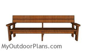 8 ft Outdoor Bench Plans