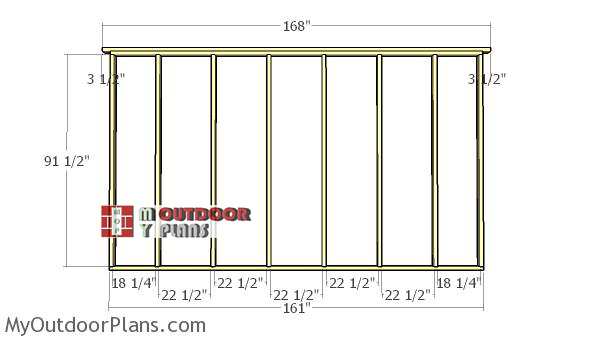 Back-wall-frame---12x14-field-shed
