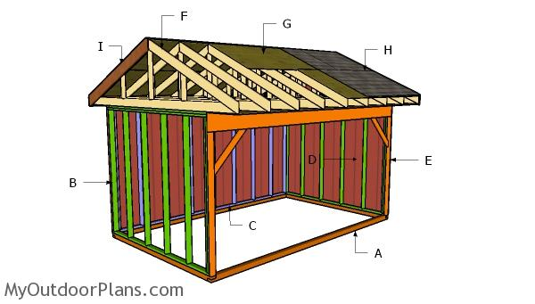 10x16 Field Shed Roof Plans