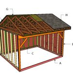 12×14 Field Shed Roof Plans