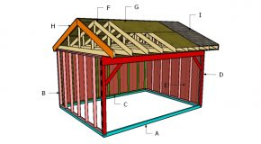 12×16 Field Shed Roof Plans