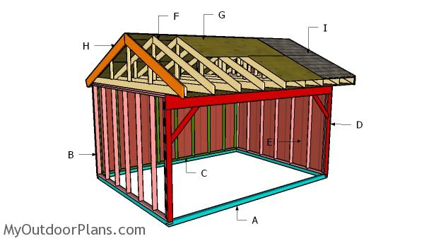 12x16 Field Shed Roof Plans