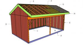12×20 Field Shed Roof Plans