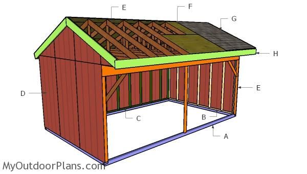 12x20 Field Shed Roof Plans