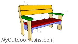 Building a 2x6 bench with backrest