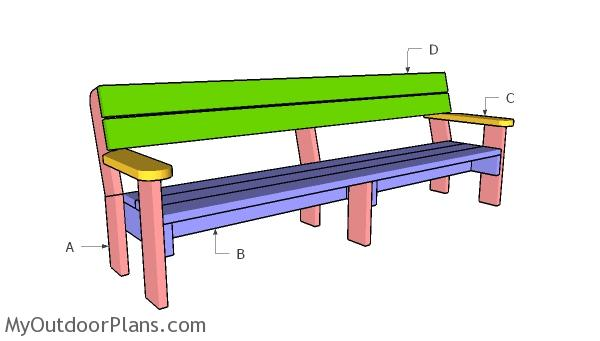 Building a 8 ft outdoor bench