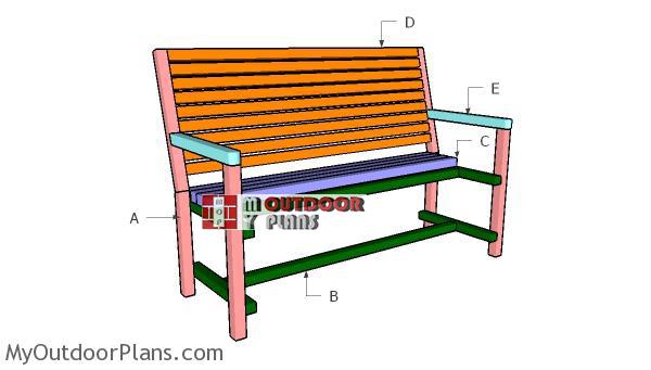 Building-a-garden-bench-2x2