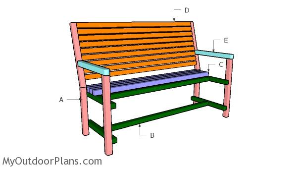 Building a garden bench from 2x2s
