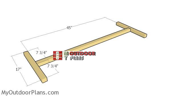 Building-the-frames---2x2-bench