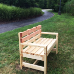 DIY Garden Bench with Backrest – Eagle Scout Project
