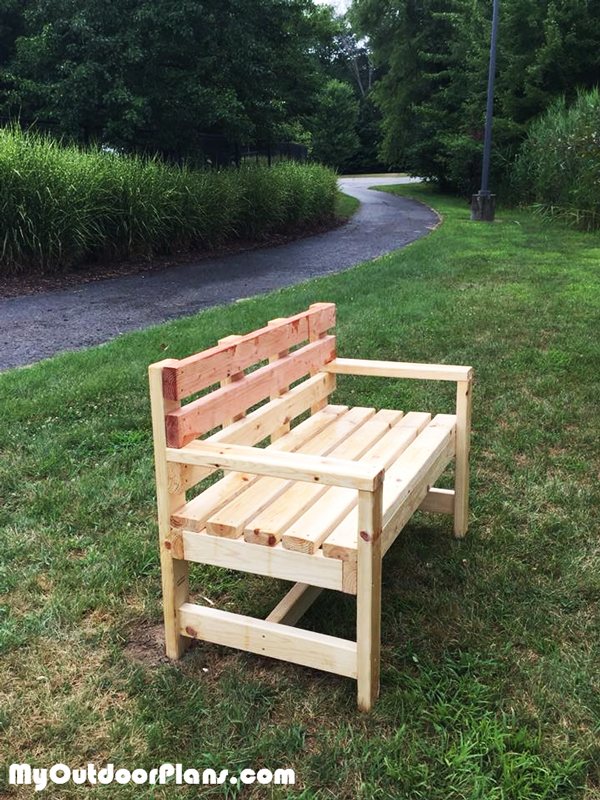 DIY Garden Bench with Backrest - Eagle Scout Project