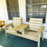 DIY Outdoor Double Chair Bench