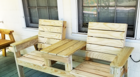 DIY Outdoor Double Chair Bench