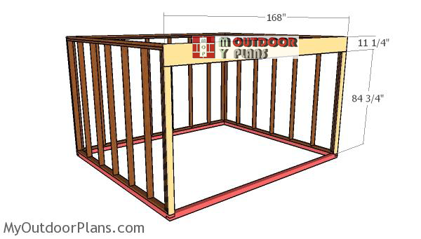 Fitting-the-front-beams---12x14-run-in-shed