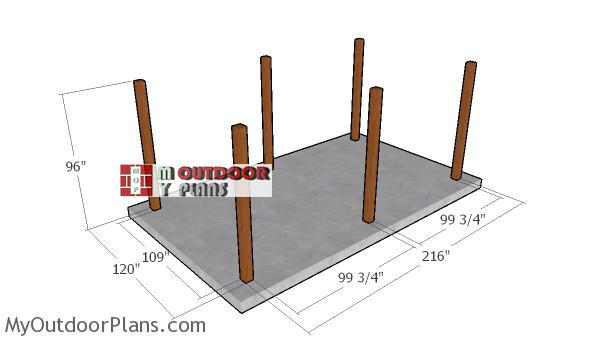 Fitting-the-posts---12x20-pergola