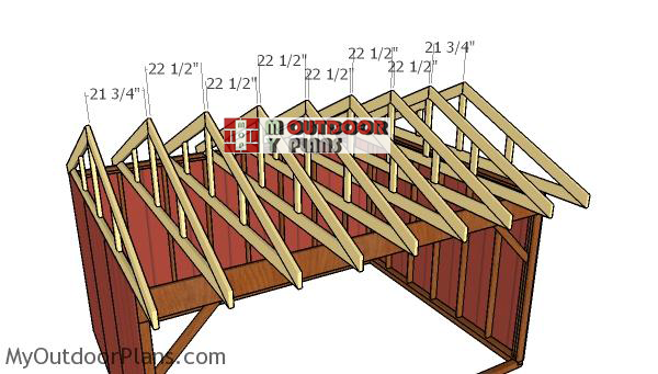 Fitting-the-trusses---12x16-run-in-shed