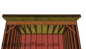 Front overhang plywood sheets