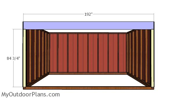 Front wall beam