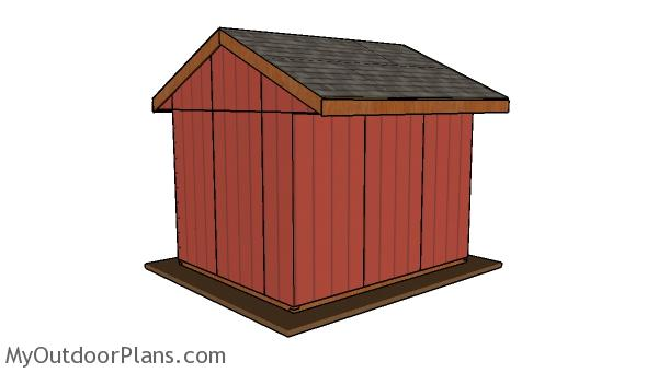10x12 Field Shed Plans - Back view10x12 Field Shed Plans - Back view