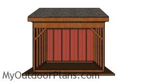 10x12 Field Shed Plans - Front view