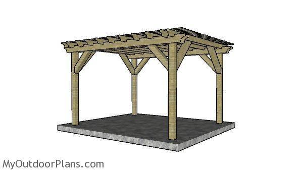 Do It Yourself Home Design: 10x12 Pergola Plans