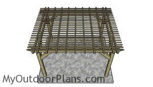 10x12 Pergola Plans - top view
