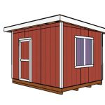 10×12 Shed with Flat Roof Plans