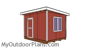 10x12 Shed with a Flat Roof Plans