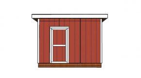 10×12 Flat Roof Shed Door Plans