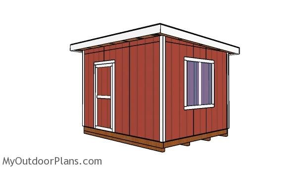 10x12 Shed with Flat Roof Plans