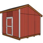 12×12 Saltbox Shed Plans