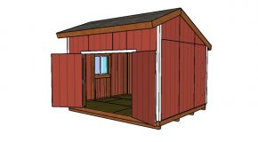 14×12 Saltbox Shed Plans