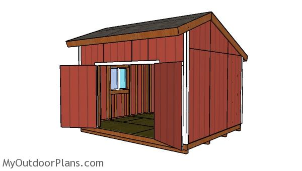 14x12 Saltbox Shed Plans