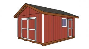 14×18 Gable Shed Plans