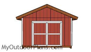 14x18 Shed Plans - Front view