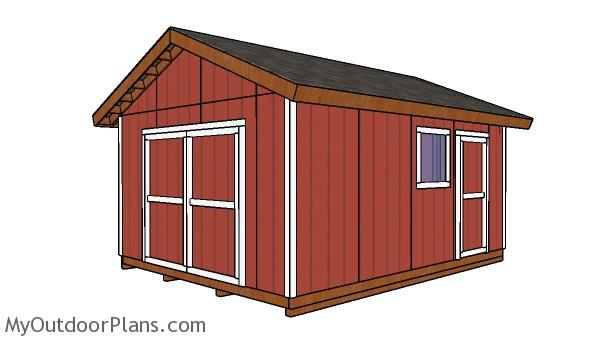 14x18 Gable Shed Plans