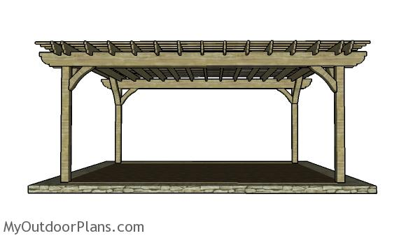 16x20 Pergola Plans Myoutdoorplans Free Woodworking