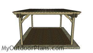 16x20 Pergola Plans - side view