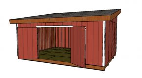 16×20 Lean to Shed Doors Plans
