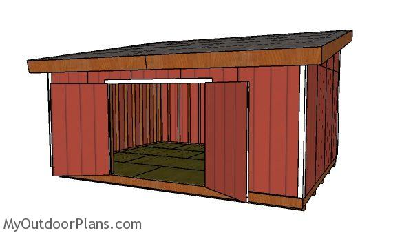 16x20 lean to shed plans free